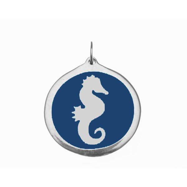 Load image into Gallery viewer, Small Blue Seahorse Charm