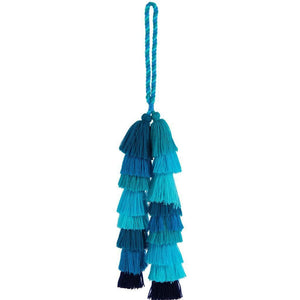 Load image into Gallery viewer, Scala Tassel Charm Blue
