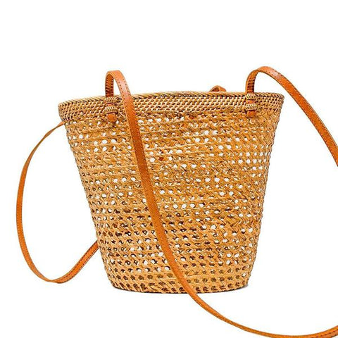 Vineyard Wicker Tote Bag