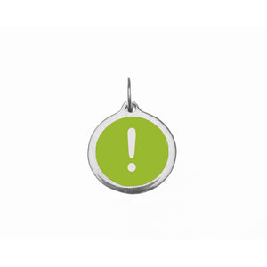 Small Lime Green Exclamation Point Charm