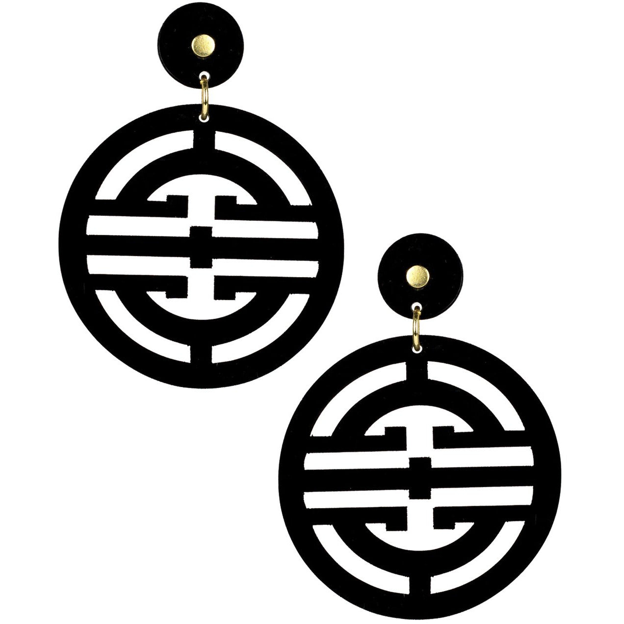 Lisi Lerch  Zoey Acrylic Earring Black