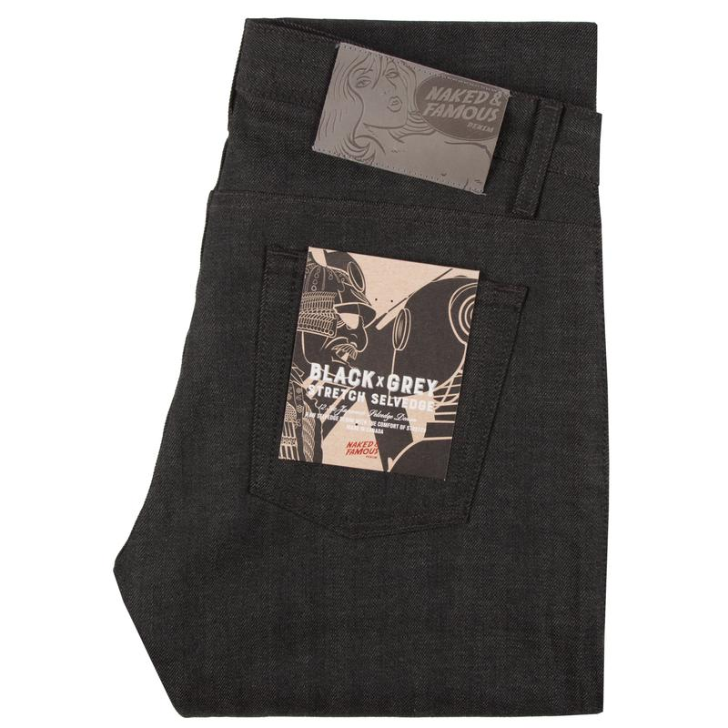 Weird Guy | 12.5 oz | Black x Grey Stretch Selvedge