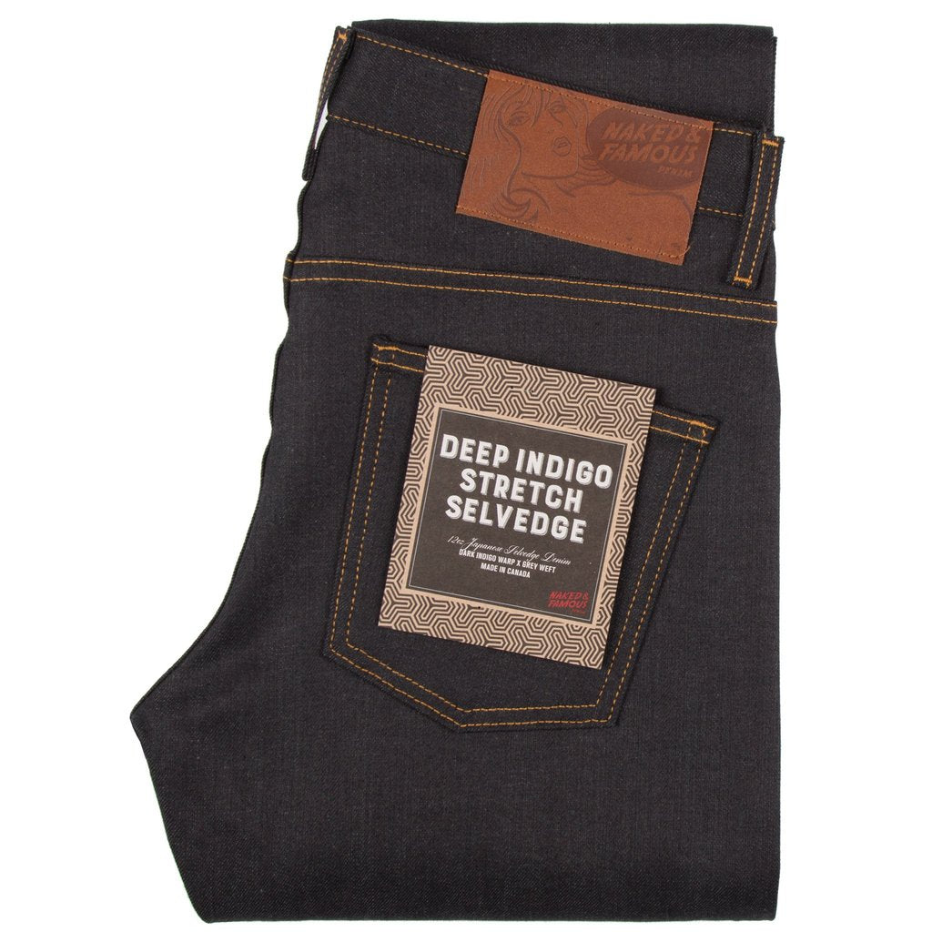 Super Guy | 12.5 oz | Deep Indigo Stretch Selvedge