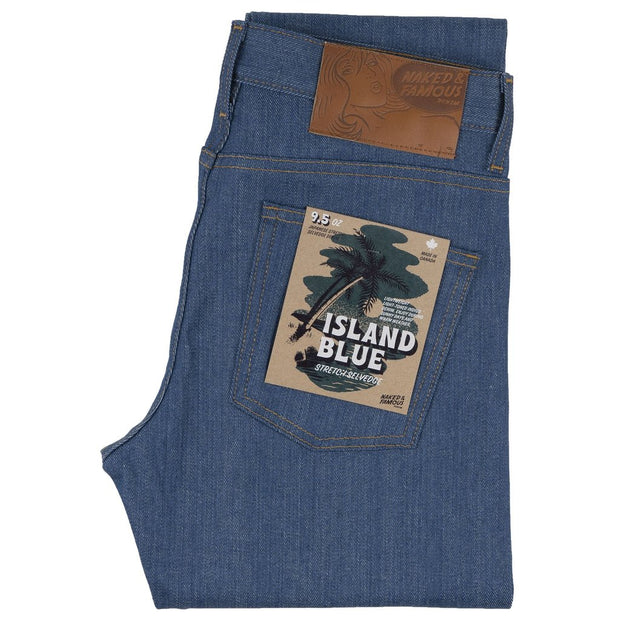 Weird Guy | 9.5oz | Island Blue Stretch Selvedge