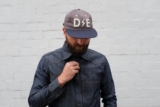 Deep Ellum Ball Cap | 3rd Edition |  Grey x Blue | Collaboration With Ebbets Field