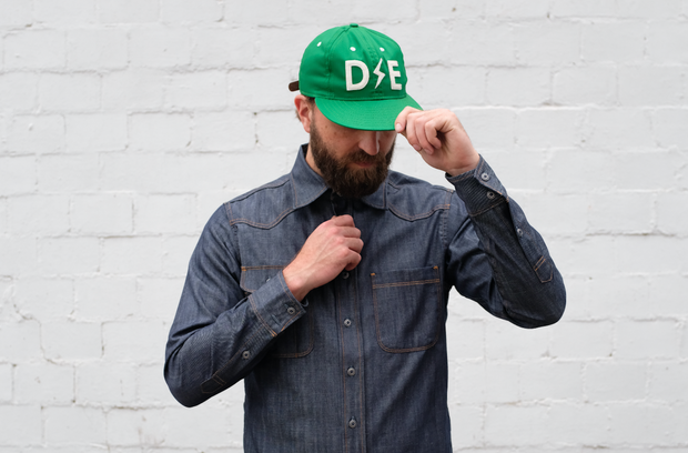 Deep Ellum Ball Cap | 3rd Edition |  Green | Collaboration With Ebbets Field
