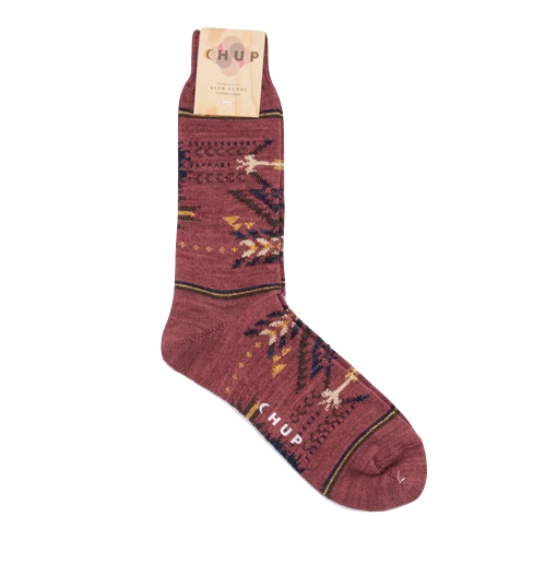 Chup Native Burgundy Socks