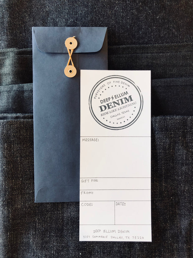 Deep Ellum Denim Gift Voucher