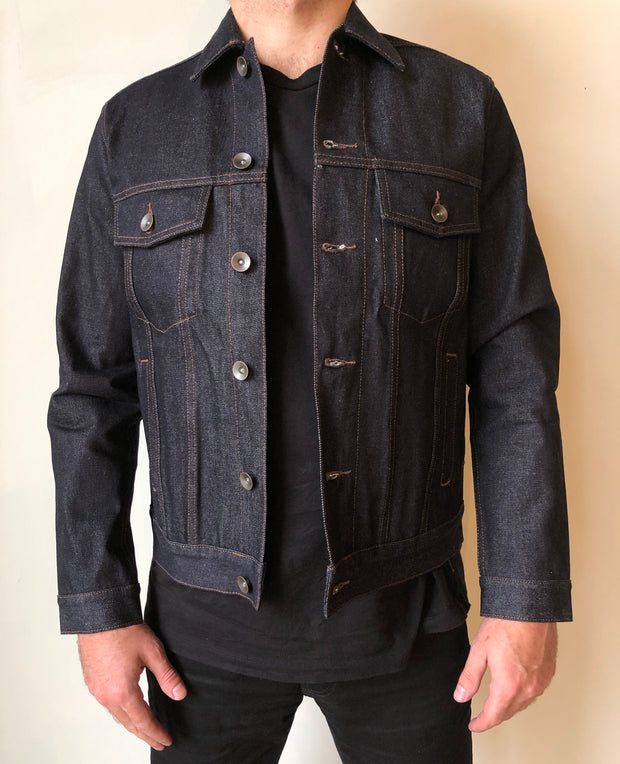 Indigo Raw Selvedge Type-III Denim Jacket | Unbranded Brand | 14 oz