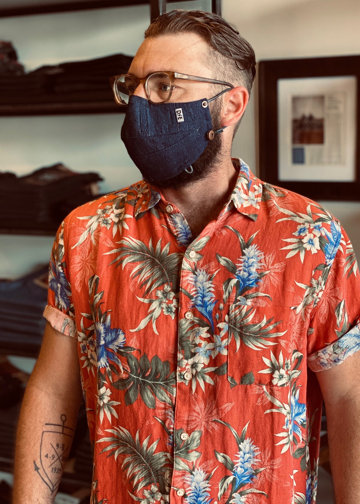 "Denim Face Mask ""Feather Weight"" by Deep Ellum Denim"