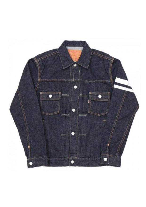 Momotaro Battle Stripe Japanese Raw Selvedge Type-II Denim Jacket | 15.7 oz