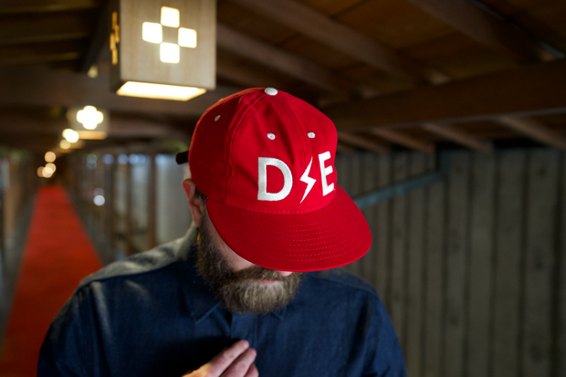 Deep Ellum Ball Cap | Second Edition |  Red | Collaboration With Ebbets Field