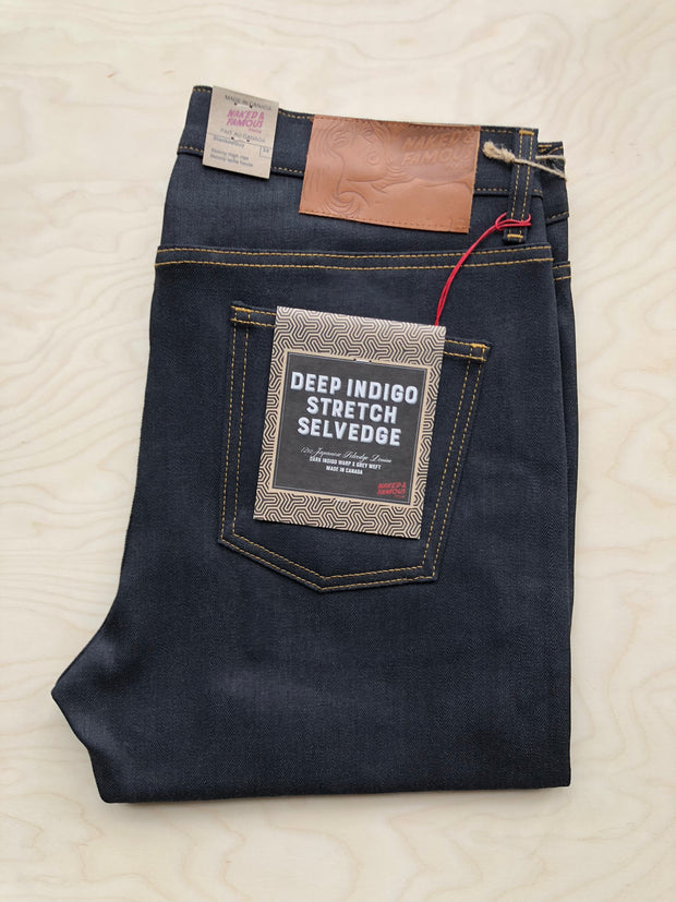 Stacked Guy | 12.5 oz | Deep Indigo Stretch Selvedge