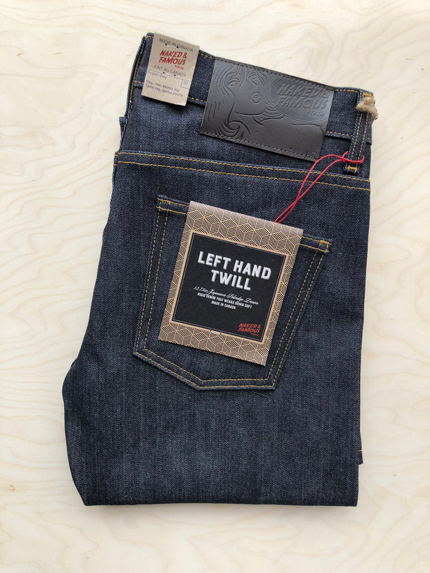 Super Guy | 13.75 oz | Left-hand Twill Raw Selvedge