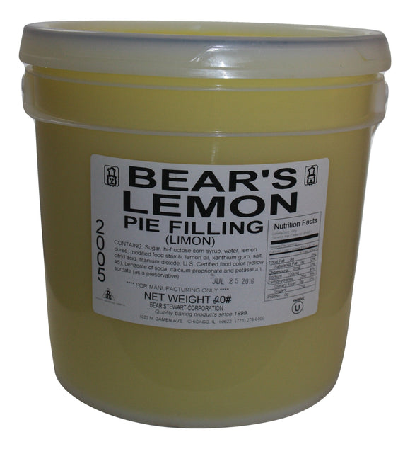 Bear Stewart Lemon Pie Filling- 20 pound pail