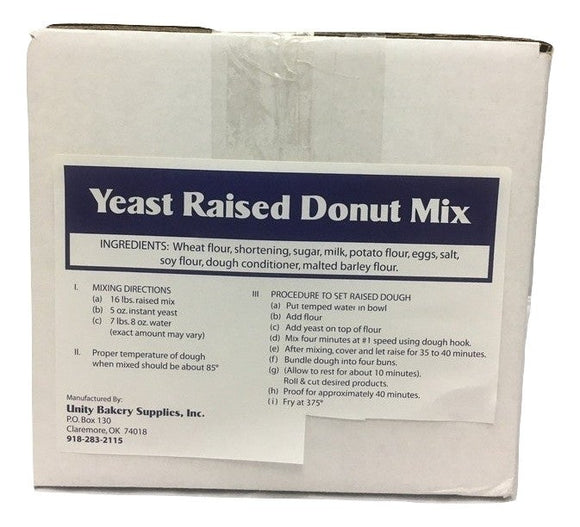 Blue Label Raised Donut Mix- -35# Gross Weight for Parcel Service Orders under 200 pounds