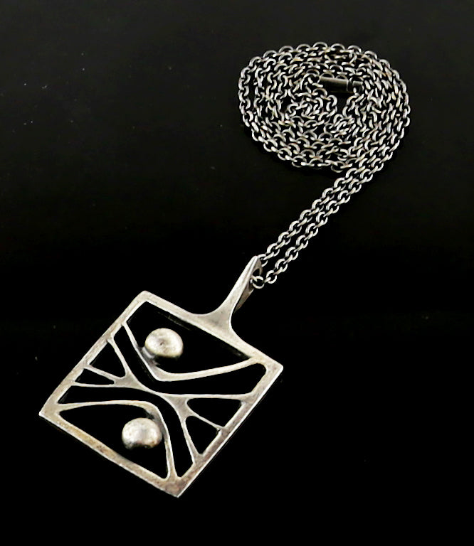 Paul Warmind Modernist Pewter Necklace - Denmark