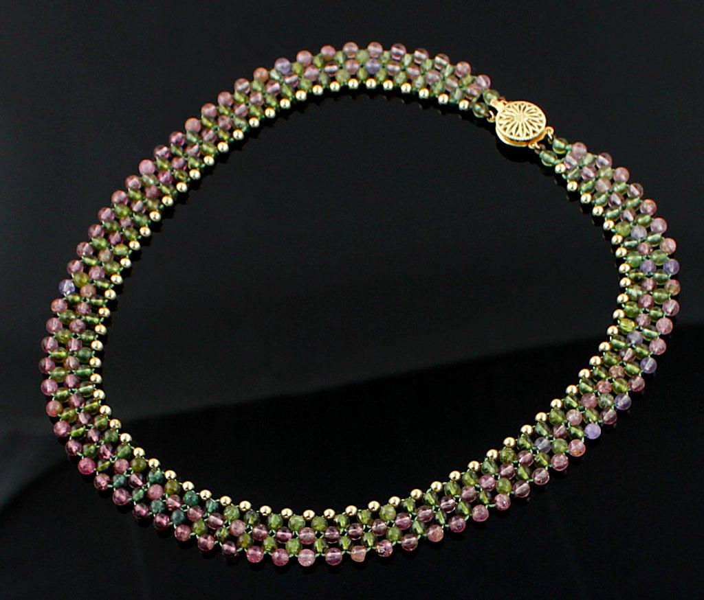 Vintage Tourmaline and 14K Gold Necklace