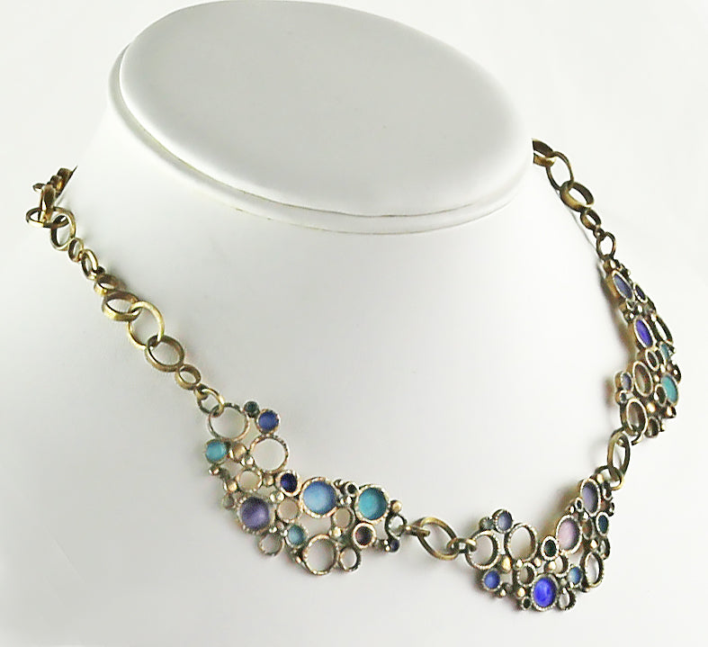 Art Deco Enamel Bubbles Necklace