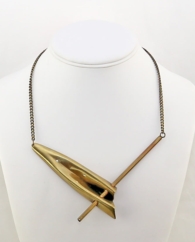 Bronze Modernist Necklace - Norway/Spain