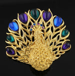 Vintage Trifari Peacock Brooch
