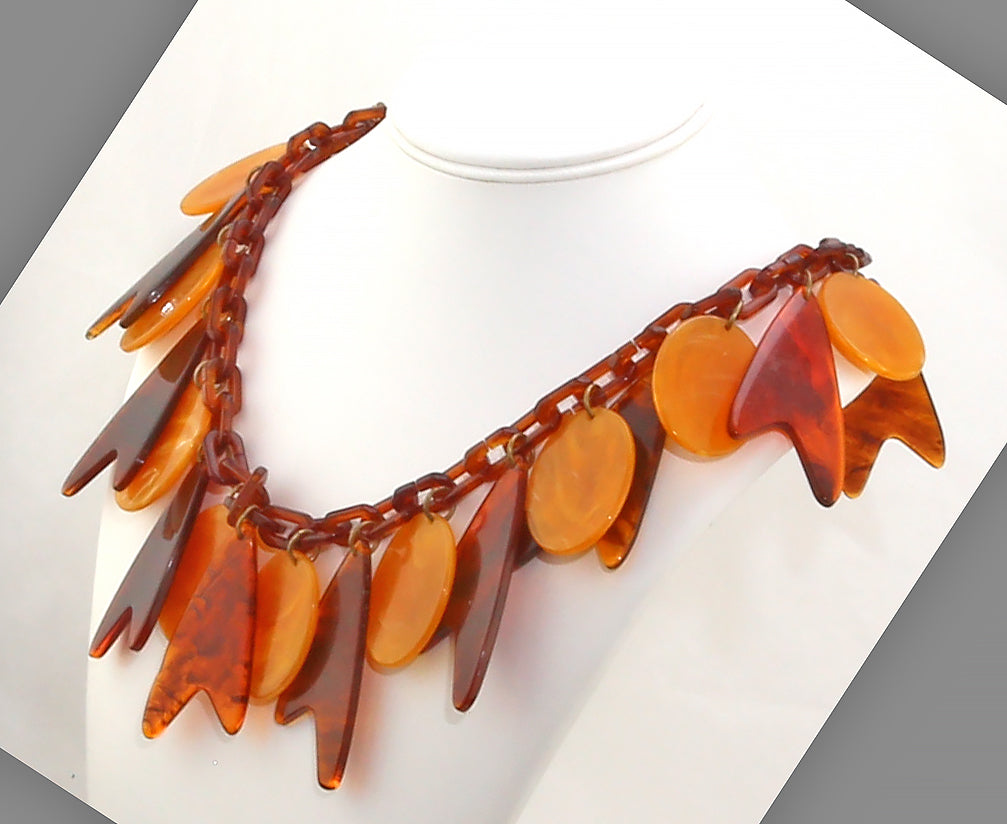 Mid Century Lucite Necklace