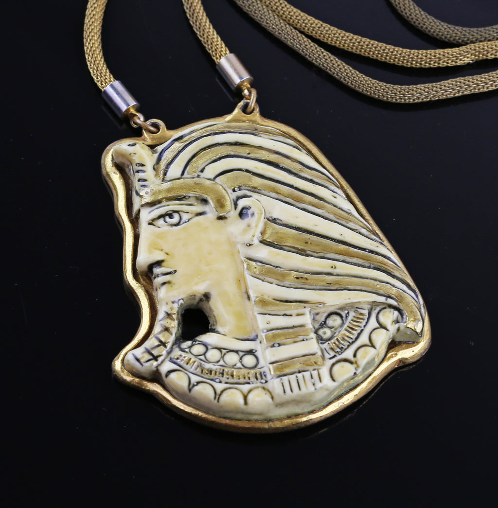 Miriam Haskell Egyptian Revival Necklace