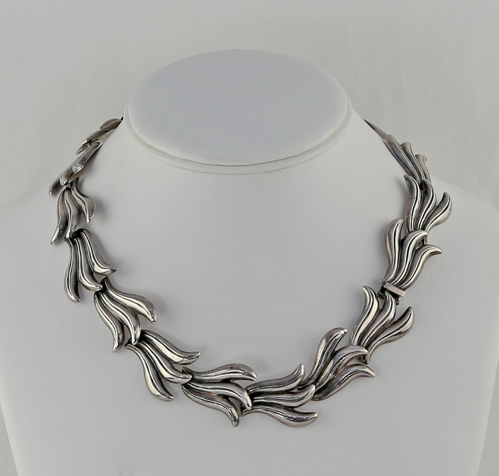 1950's Mexican Sterling Necklace and Earrings by Beto