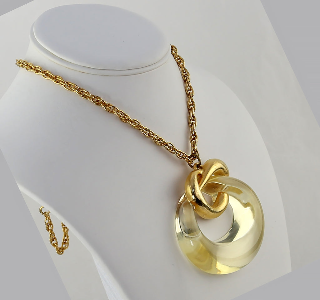 Vintage Lucite Knot Necklace