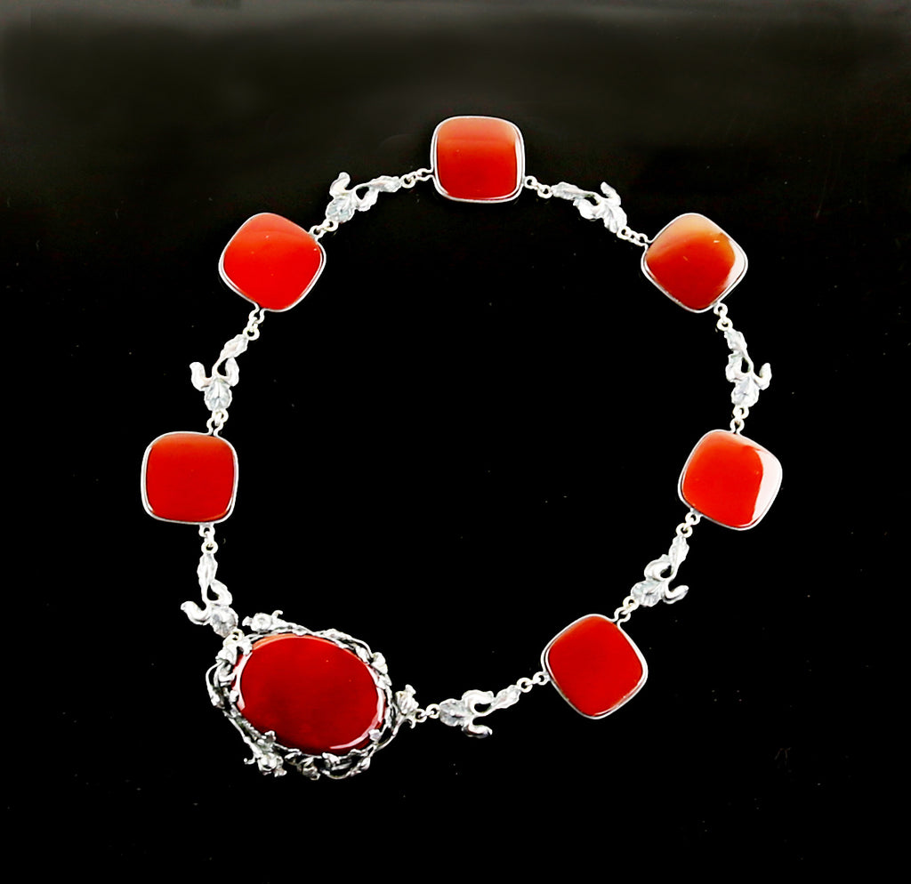 1920's Sterling and Carnelian Necklace