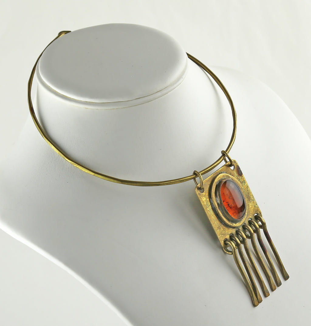 Rafael Alfandary Studio Necklace with Amber Glass - Canada