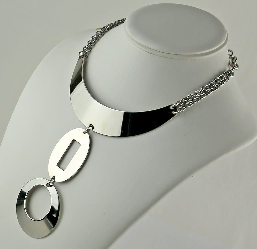 Space Age Chrome Necklace