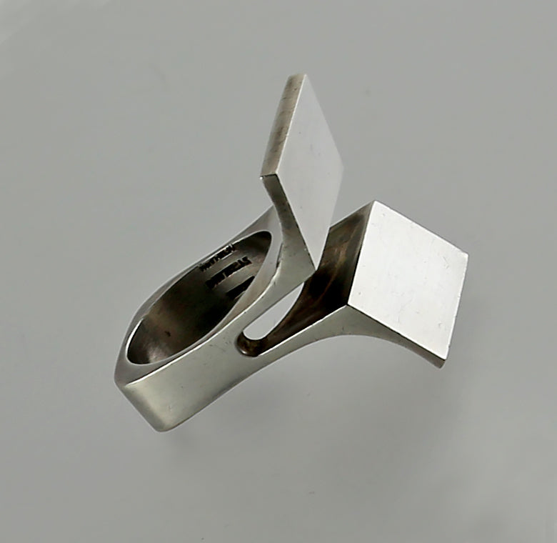 Uwe Moltke Modernist Sterling Ring - Denmark - Mid 20th Century