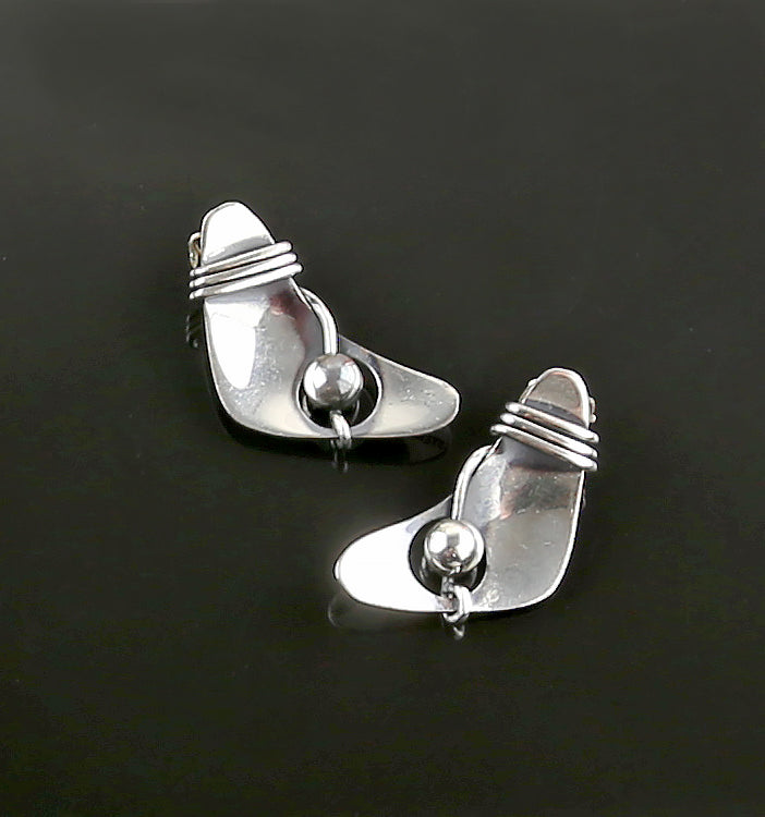 Rebajes Sterling Modernist Earrings