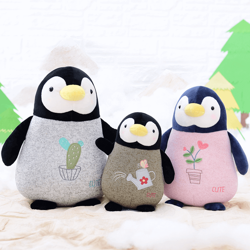 Cute Penguin Plush Toy High Quality 3 Colors And 3 Sizes