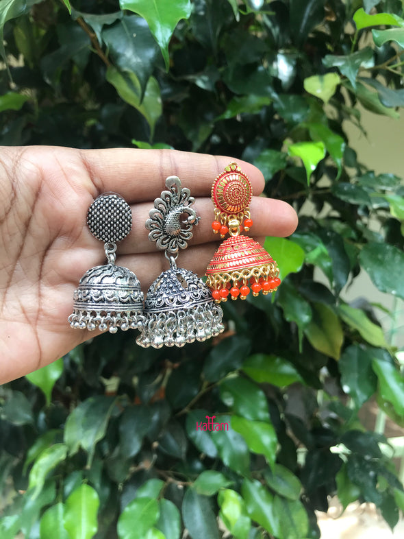 Oxidized Earrings Combo