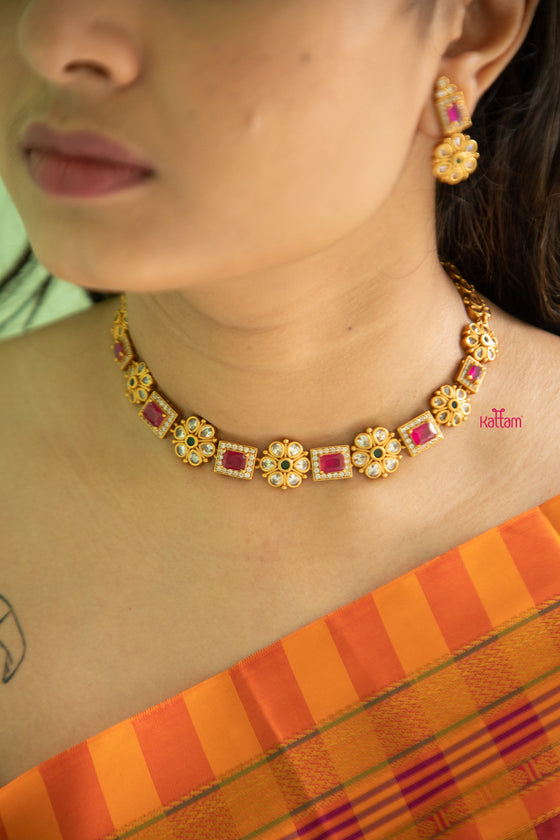 Temple jewellery necklace