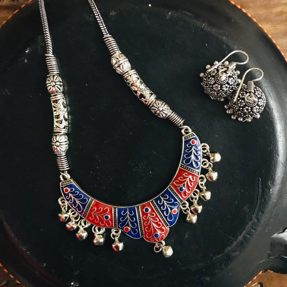 Trendy Pendant Necklace Set with Earrings