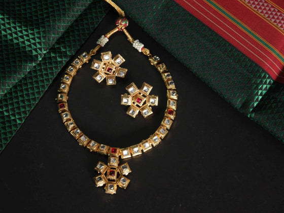hi quality kundan pendant choker necklace