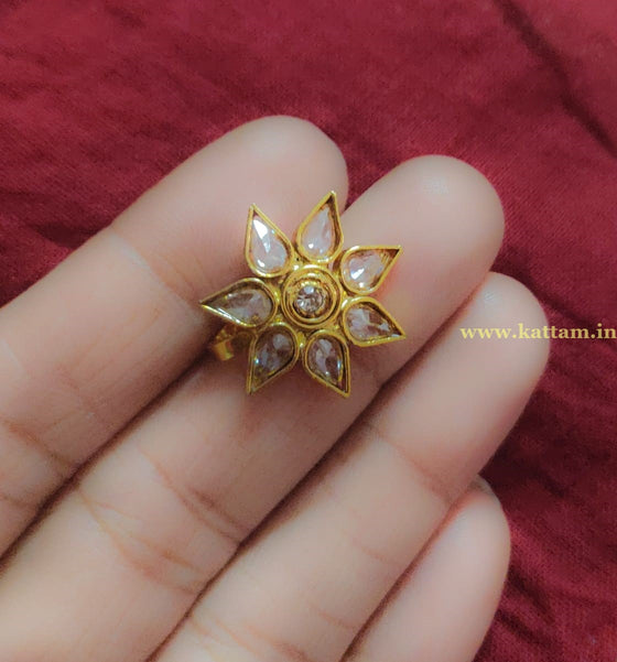 Crystal Stone Pressing Style Nose Pin - Kattam Jewellery Instagram Store