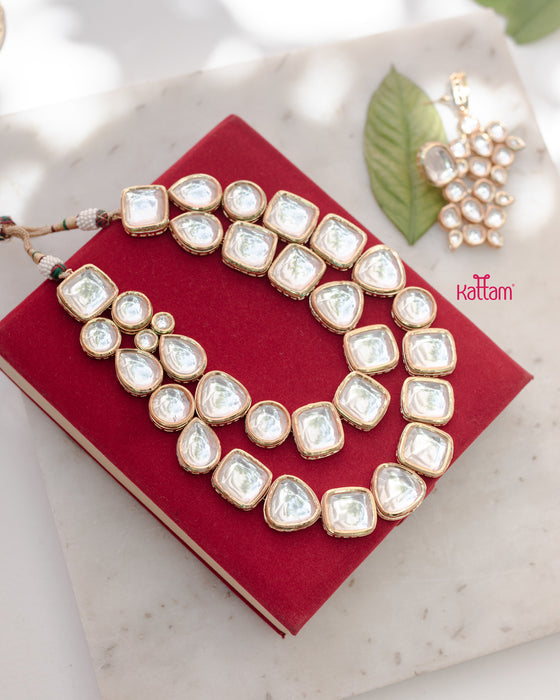 Two Line Kundan Necklace
