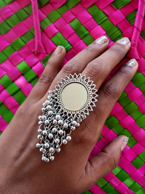 Mirror Tassels Ring - Kattam Jewellery Instagram Store