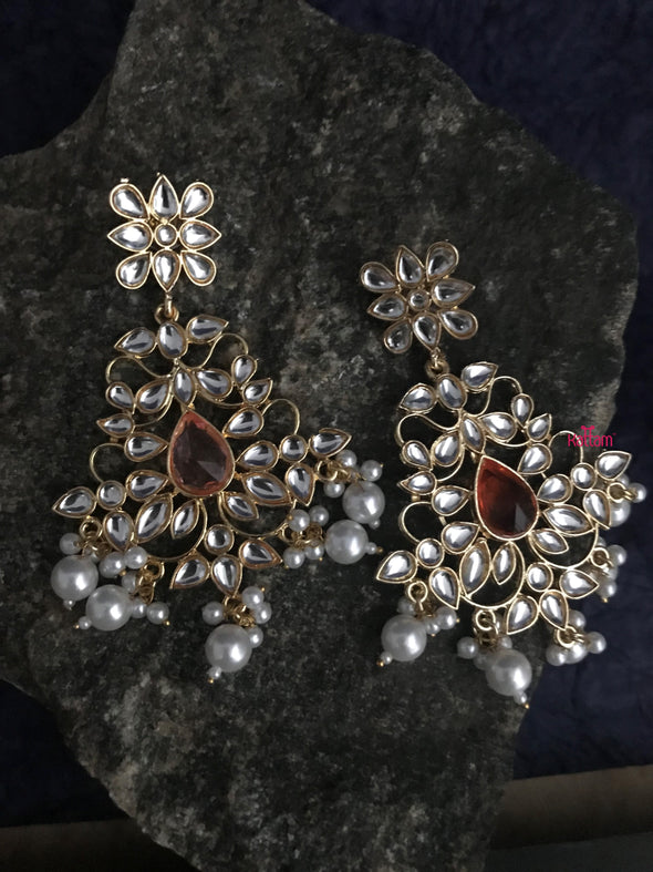 kundan partywear earrings