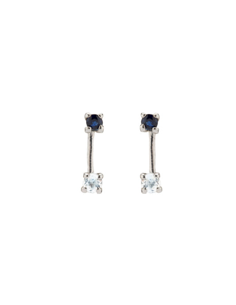Sapphire and Aquamarine Double Studs