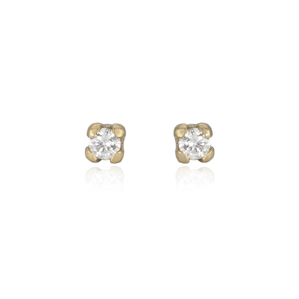 Diamond Studs in 14K Gold