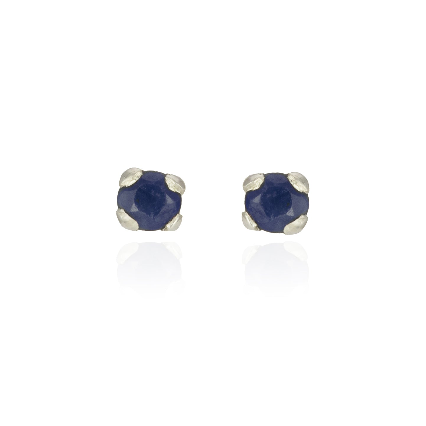 Sapphire Studs in Silver