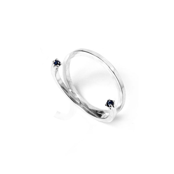 Sapphire Open Stack Ring