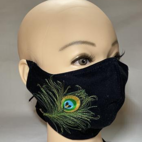 designer face cover peacock
