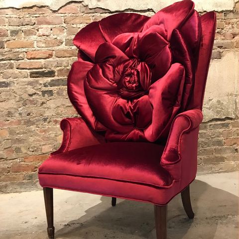 the artful chair - the rose chair - upcycled chairs
