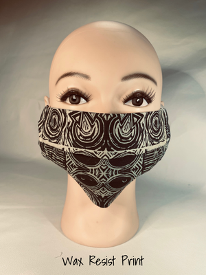 classic face cover wax resist print